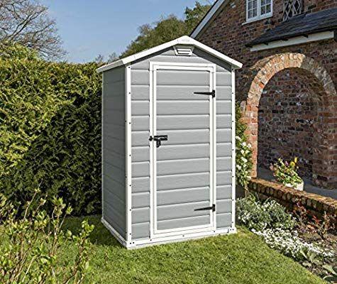 Keter Gerätehaus Manor 4x3, Grau, 1,8m³: Amazon.de: Amazon ...