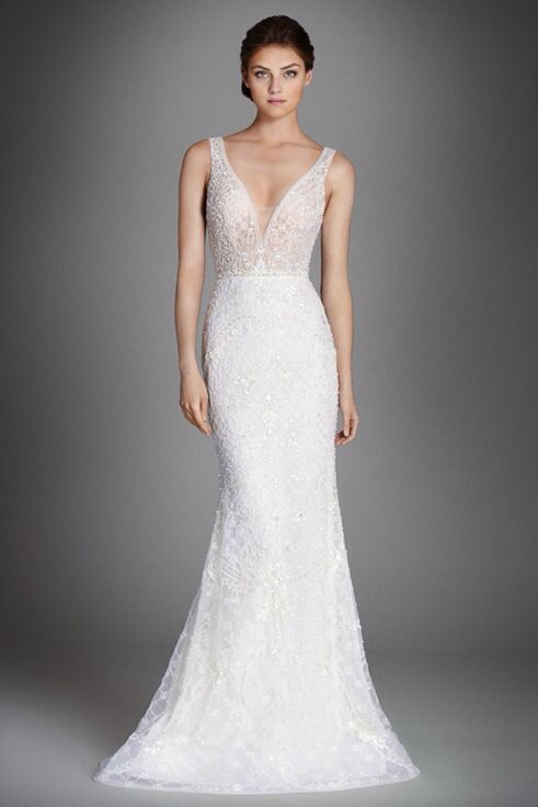 Beautiful Stunning Stunning and Gorgeous V neck Wedding Dresses GirlYard Wedding Dresses Pinterest Dress silhouette Horsehair and Embroidered lace
