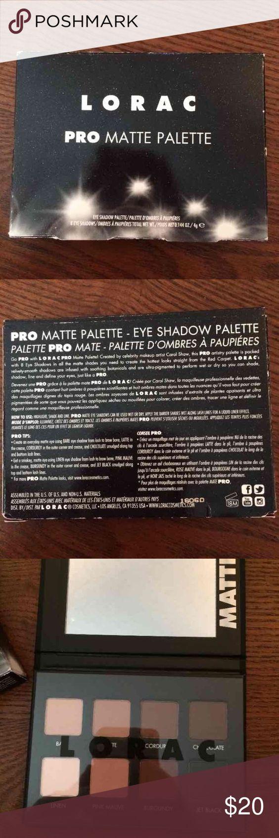 Lorac Pro Matte Palatte Brand new, never used lorac Makeup Eyeshadow
