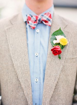 bow tie with plaid | Michelle March