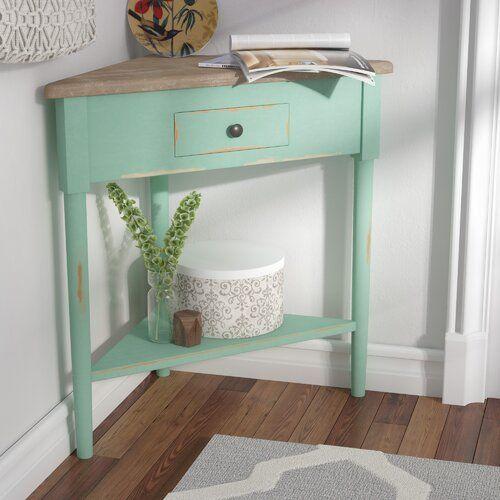 4 Tier Corner Shelf Corner Accent Table Small Corner Table Small Corner Decor