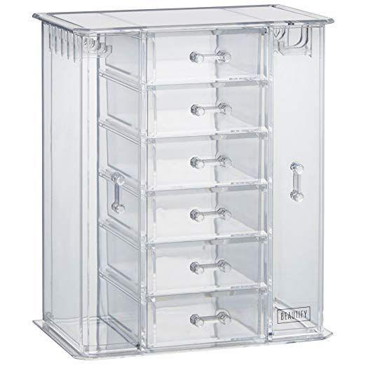 Beautify Clear Acrylic Jewelry Organizer Chest Makeup Storage Box With 6 Drawers Makeup Storage Box Jewelry Organization Acrylic Jewellery