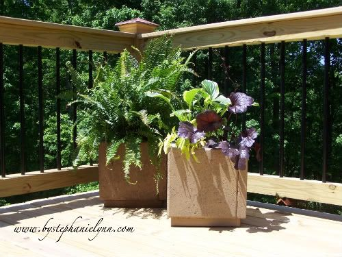 paver planters--inexpensive and awesome!! making these!