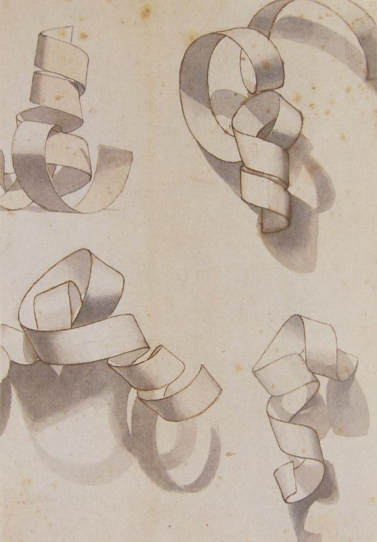 paper curl. Fun shading activity, different than the geometric shape drawings