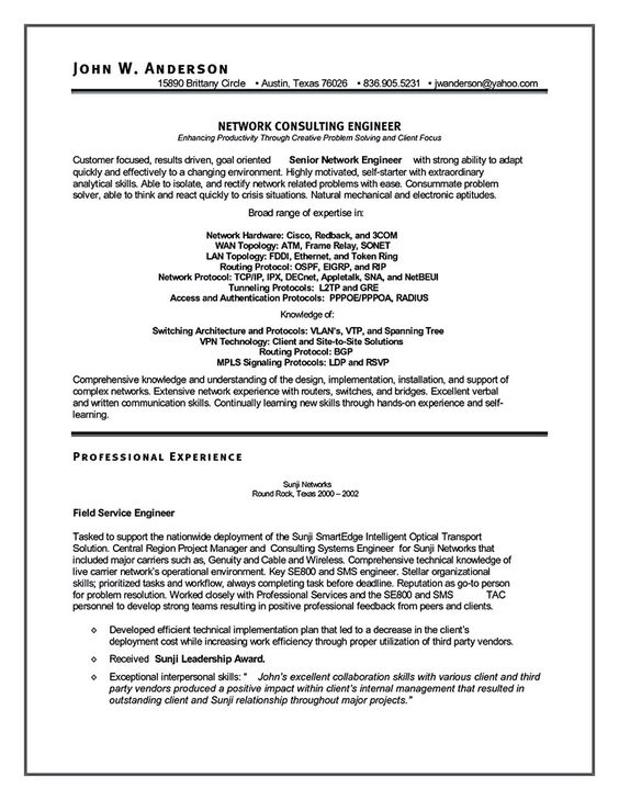 Emphasize Your Skills In Your Network Engineer Resume  Share