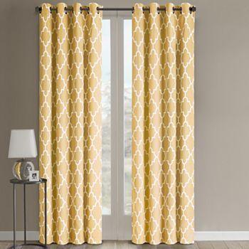 "sonoma life + style® fret window panel - 50'' x 84'' ""buttercup"