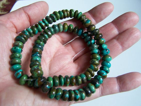 Natural genuine Turquoise strand  16 inches  by Rockriverbeads