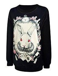 Women's Round Collar Print Fashion Long Sleeve Sweatshirts