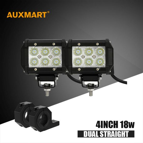 "$100.00 (Buy here: http://appdeal.ru/e9eg ) Auxmart Cree chips 4"" 18W offroad  Led Light Bar Spot Flood beam light bar + mounting bracket for offroad ATV UTE 4x4 4WD pickup for just $100.00"