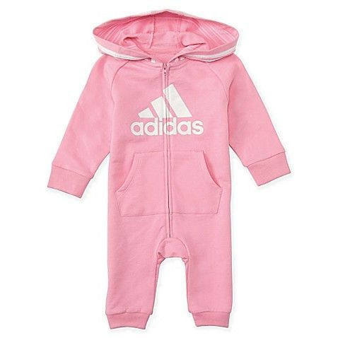 Adidas Hooded Coverall In Pink Ad Adidas Baby Baby Boy Clothes Newborn Boy Outfits