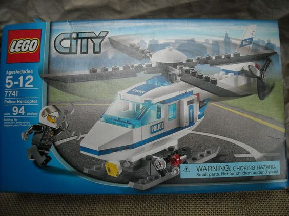 Lego City Police Helicopter 7741 With Minifigures New Old Stock 94 Pcs 5 12 Set Lego Lego City