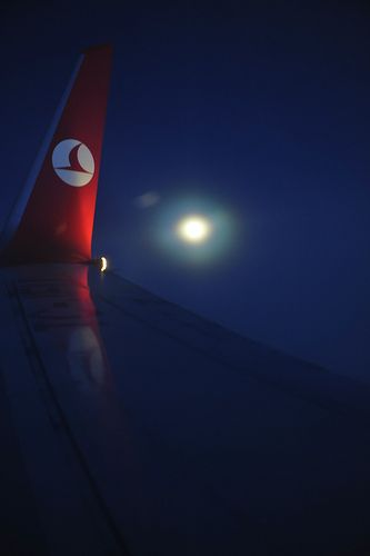 Night flight - THY Turkish Airlines Türk Hava Yolları