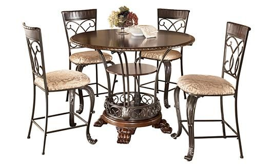 Counter Height Dining Table Chairs Ashleycom For The Home - Alyssa dining room set