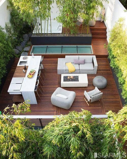 Garden With Outdoor Kitchen And Hot Tub Outdoor Kitchen Design Backyard Patio Outdoor Areas