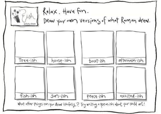An activity guide for the books The Dot and The Ish written by Peter H. Reynolds.
