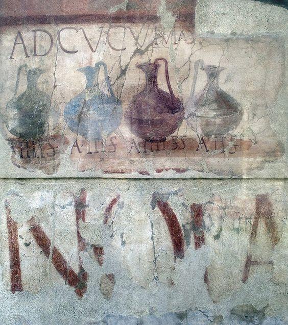 Shop sign in Herculaneum.