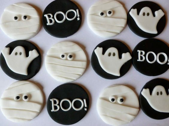 Edible Fondant Halloween Cupcake Toppers 4 of by TheCakeTopCompany, £7.95