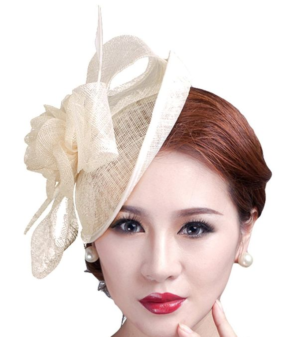 Cocktail Pillbox Hat Fascinator Hair Clip Bridal Headwear for Women at Amazon…