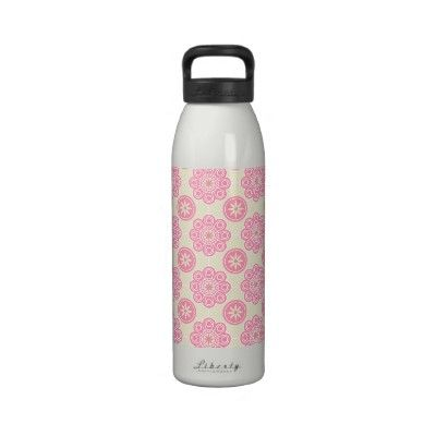 Pink Floral Water Bottle