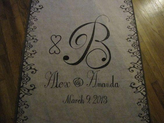 Burlap Flower Girl Basket Hobby Lobby : My baby girl s wedding aisle runner bought from