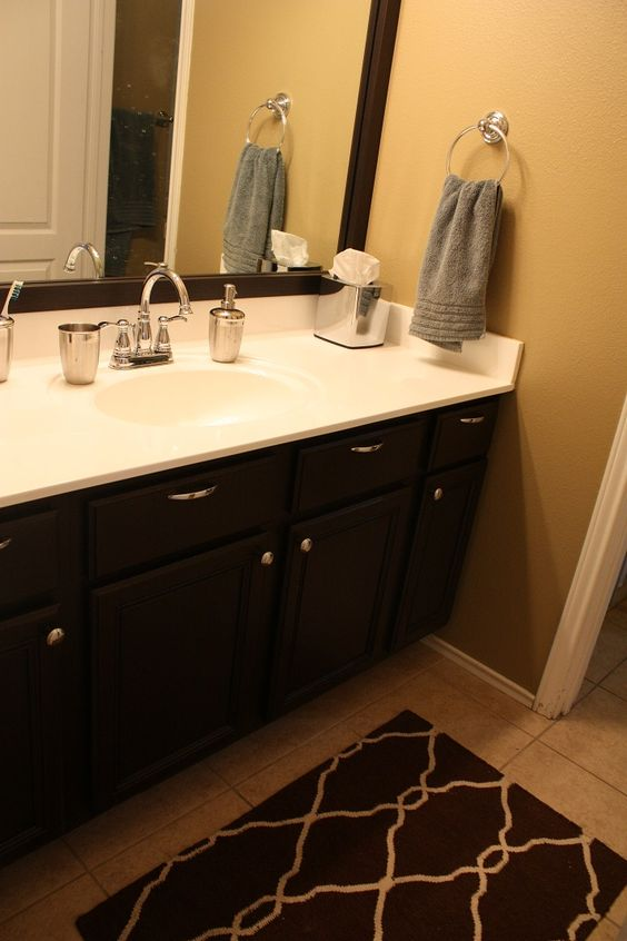 makeover. Painted the walls, resurfaced the cultured marble countertop ...