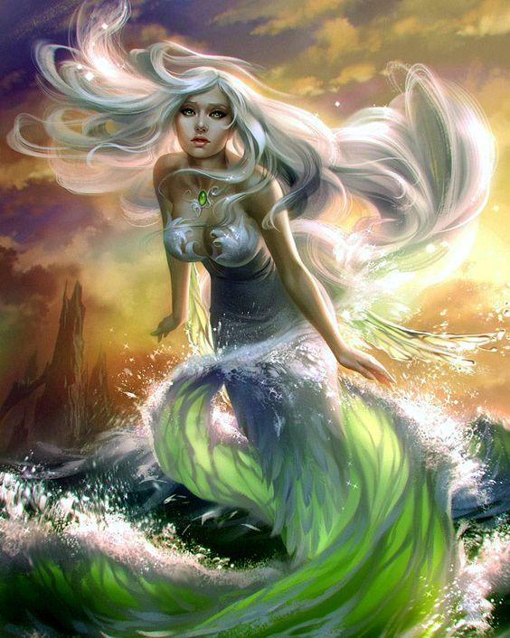 Mermaid Fantasy Art Mythology Pinterest Mermaids