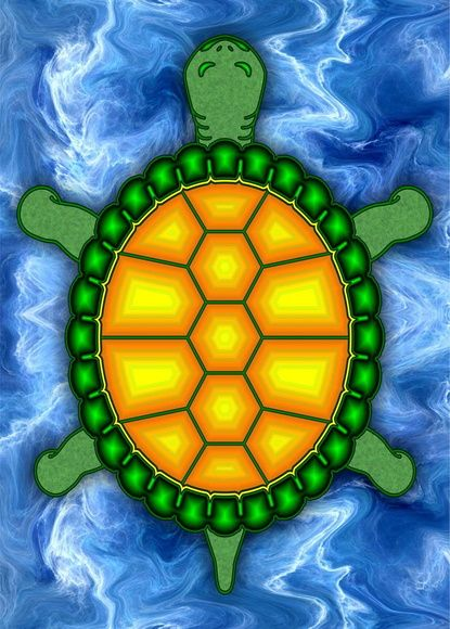 Pôster Tartaruga - Paciência - Das Sete Virtudes a Paciência é a Quinta, e seu símbolo é a Tartaruga.  Paciência é a virtude que torna o homem capaz de superar com tranquilidade o sofrimento, as dores, a infelicidade. Segundo Sêneca, a virtude da paciência significa a adaptação ao inevitável. Na concepção cristã, a virtude da paciência nos da poder para superar todas as situações de angústias e perigos a que somos expostos.