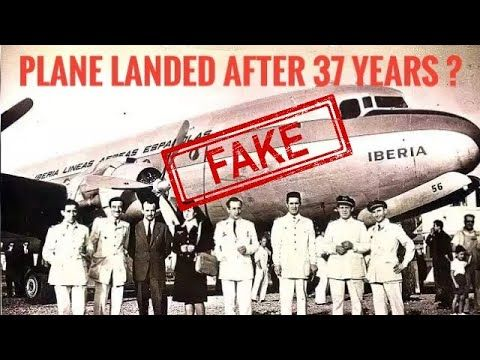 Plane Missing From 1955 Landed After 37 Years Is Fake Riddle Of Missing Flight 914 Proved Finally Youtube Riddles Years Iberia