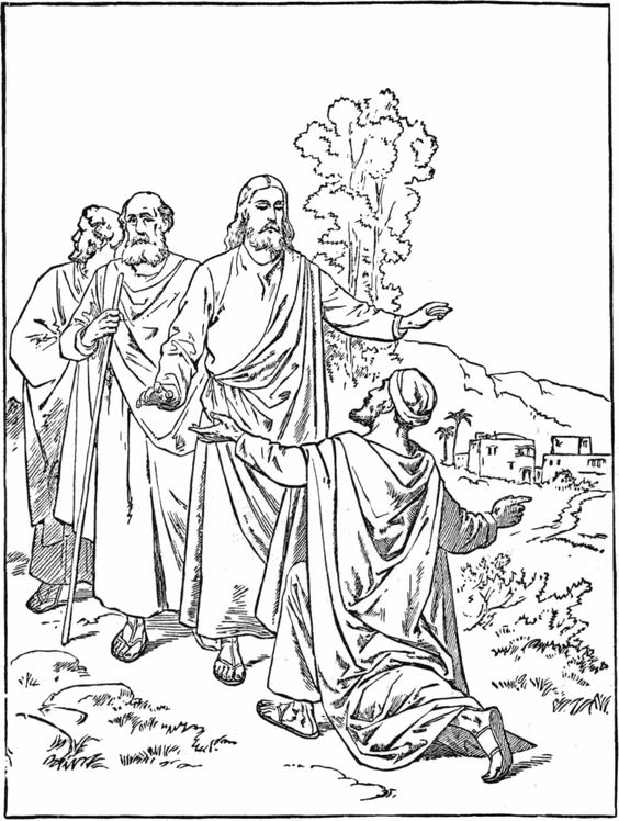 jesus healing the sick coloring pages jesus heals the sick coloring