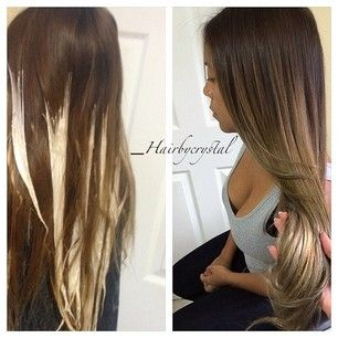 Wish I saw this before my hair got messed up ...How to ombre your ends... so easy!!