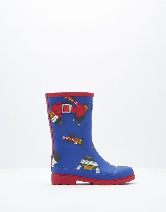 Printed Dazzling Blue Monkey Wellies | Joules UK