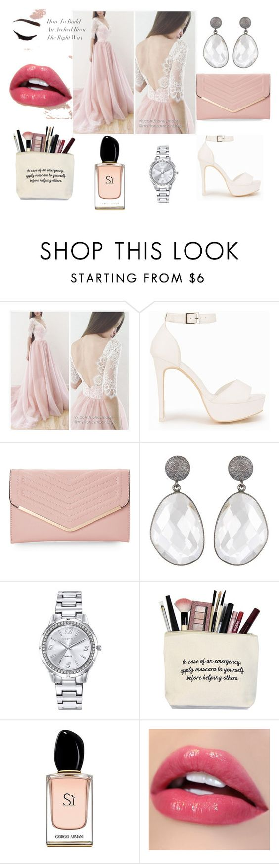 Date night yes please by fabgirlmeetsfashion on Polyvore featuring beauty, Armani Beauty, Mestige, Sasha and Nly Shoes