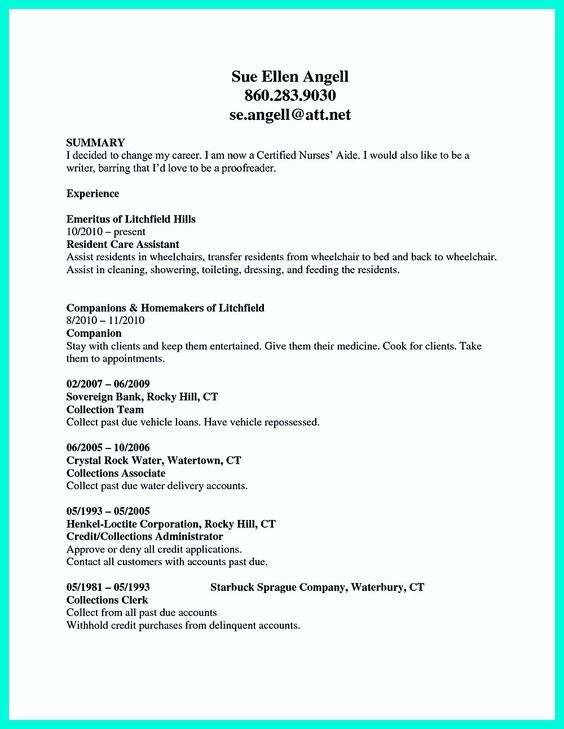 Cna Template Resume Ccna Resume Format For Experience Nursing Msoi  Digimerge Net Perfect Resume Example Resume