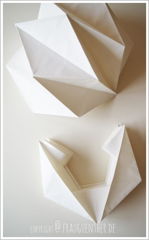 diy origami papierlampe origami paper lamp lampe aus papier falten tutorial paper lamps. Black Bedroom Furniture Sets. Home Design Ideas