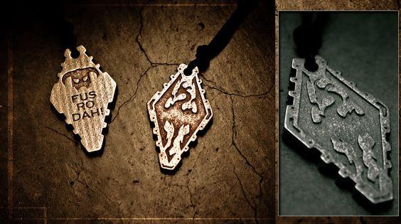 Skyrim Pendant - Stainless Steel by soupcan13.deviantart.com on @deviantART