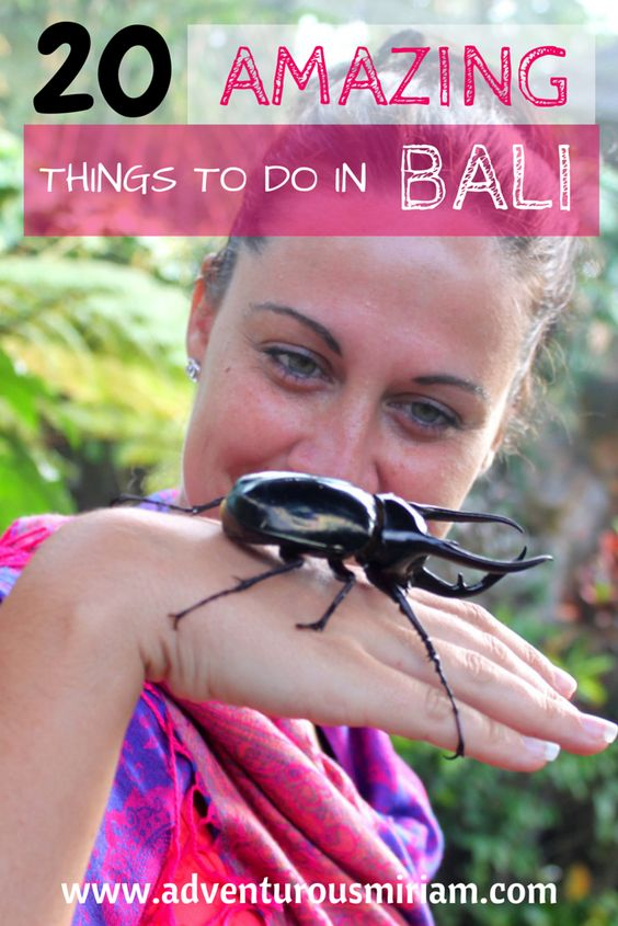 20 fun activities in Bali, from white water rafting and yoga to surfing, biking and climbing volcanos.   #indonesia #bali #travel