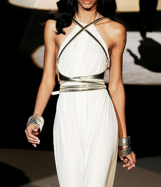 Not sure if this is long or short, but either way its a fabulous white dress! #dsquared #RTW2009