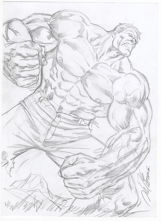 Incredible Hulk prelim by Al Rio by AlRioArt