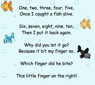 Fish alive song as seen on kindergarten klub http www for The fish poem