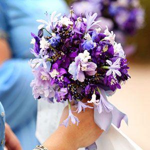Wedding Blue And Purple Flowers