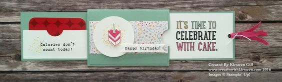 Double slider & gift card holder tutorial #stampinup #creatinwithkirsteen #doubleslider