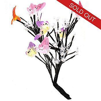"""Style at Home with Margie 17.5"""" Dancing Butterflies LED Tree"""