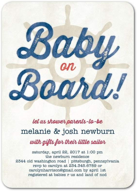 Baby on board! Go for a clever nautical theme for your baby shower.