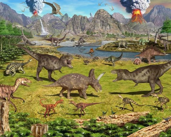 Dinosaurs on pinterest for Dinosaur land wall mural