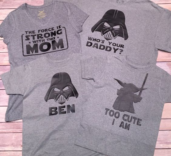 Star Wars Family Shirts by BlissGiftShop on Etsy