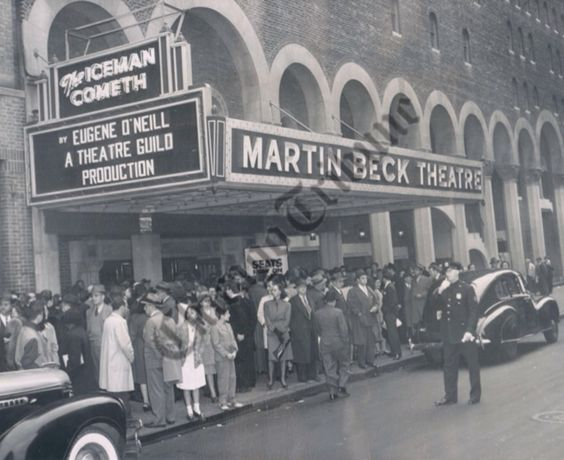 Broadway marquee The Iceman Cometh Martin Beck Theatre Eugene O'Neill