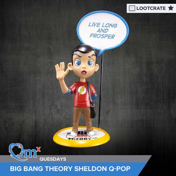 I'm entered to win a Big Bang Theory Sheldon Q-Pop courtesy of QMx & Loot Crate! #QMxQuesdays