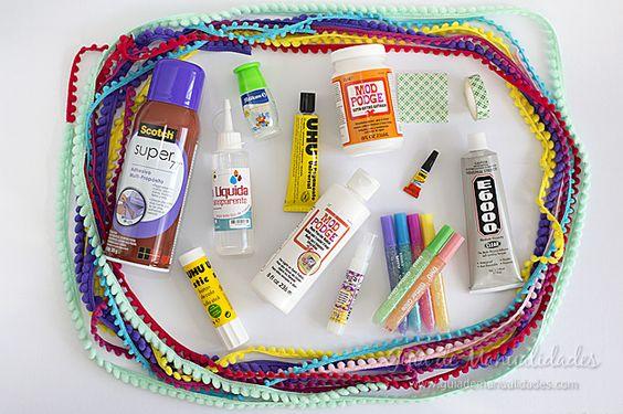 Hoy te cuento qué tipos de pegamentos puedes encontrar para hacer manualidades y cuáles nunca tienen que faltarte entre tus materiales! Un informe especial!