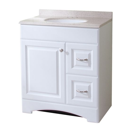 Images On Shop Style Selections Almeta in x in White Single Sink Bathroom Vanity with Cultured Marble Top at Lowes