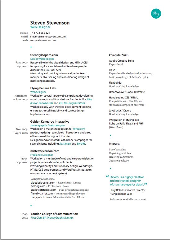 new resume design Resumé, Design et Cv - digital media resume